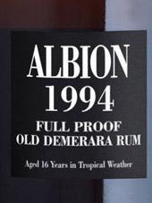 Albion Demerara Rum Vintage 1994