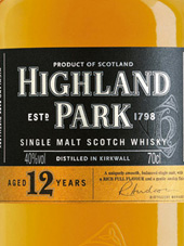 Highland Park Single Malt Scotch Whisky 12 Years Old Orkney Islands