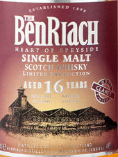 BenRiach Malt Whisky Claret Wood 16 Jahre