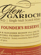 Glen Garioch Single Malt Whisky