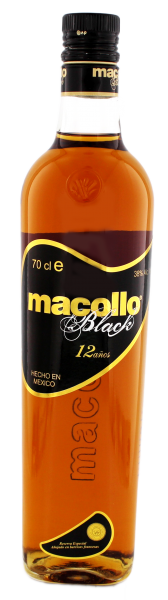 Macollo Rum Black 12 Years Old, 0,7 L, 38%