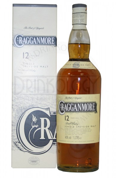Cragganmore Single Malt Whisky 12 Years Old, 1 L, 40%