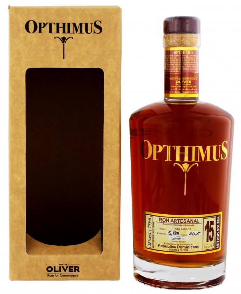 Opthimus Rum 15 Years Old, 0,7L, 38%
