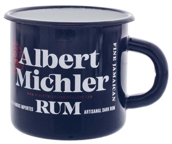 Michlers Jamaican Artisanal Dark Rum Tin Cup blau