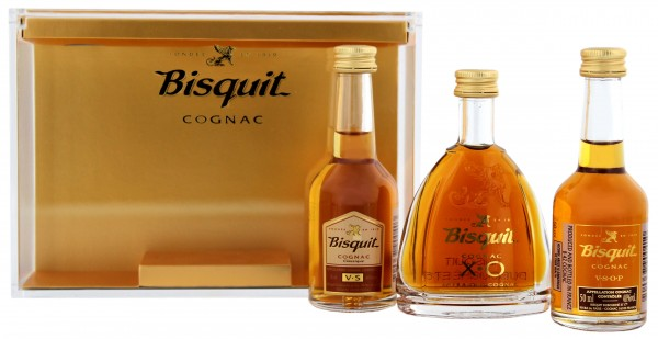Bisquit Cognac Miniaturen Set, 3 x 0,05L 40%