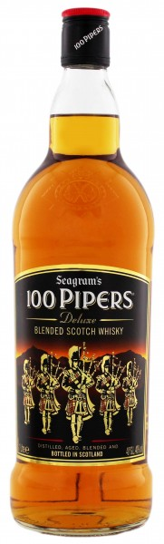 100 Pipers Blended Scotch Whisky 1,0L 40%