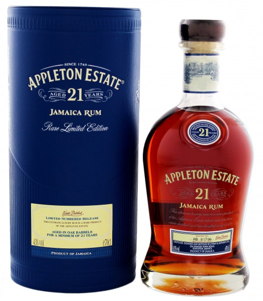 Appleton Estate Rum 21 Years Old, 0,7 L, 43%