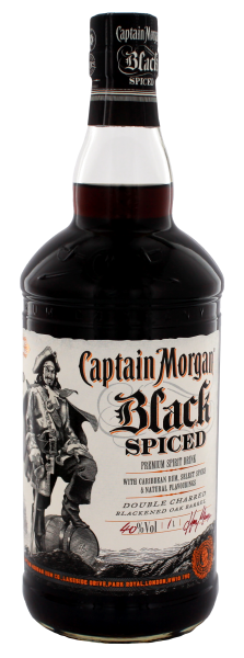 Captain Morgan Black Spiced 1,0 L 40%