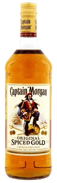 Captain Morgan Original Spiced Gold Rum, 1,0 L, 35%