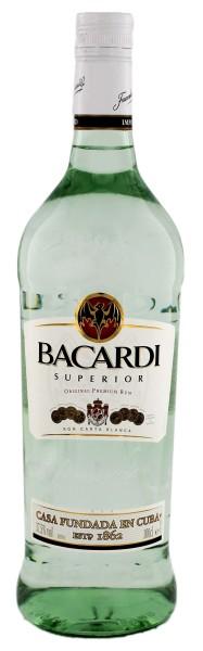 Bacardi Rum Superior Carta Blanca 1,0L 37,5%