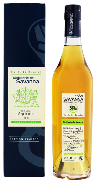 Savanna Rhum Vieux Agricole Single Cask 5 Years Old, 0,5 L, 46%