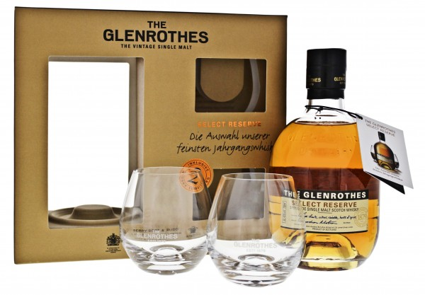 The Glenrothes Select Reserve 0,7L 43% Set inkl. 2 Gläser