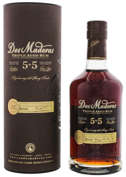 Dos Maderas Rum PX 5 + 5 Jahre 0,7L, 40%
