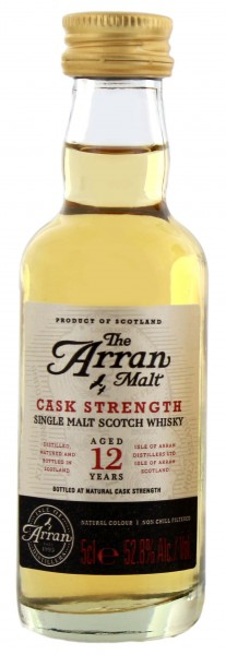 Arran 12 Jahre Cask Strength Malt Whisky Miniatures