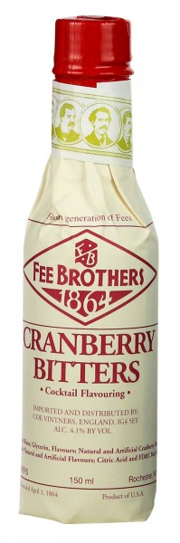 Fee Brothers Cranberry Bitters, 0,15 L