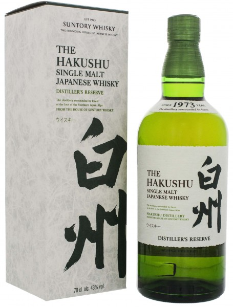 Hakushu Distillers Reserve Single Malt Japanese Whisky 0,7L