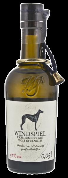 Windspiel Premium Dry Gin Navy Strength Miniatur Exklusiv 0,05L 57%