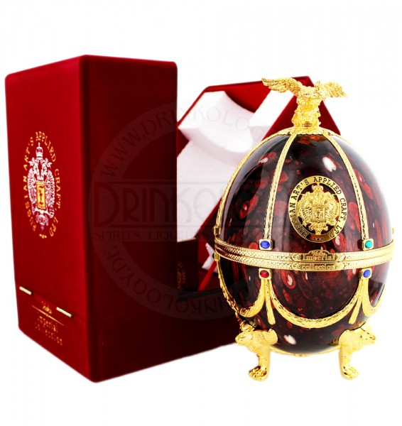 Imperial Collection Vodka Faberge Egg Ruby