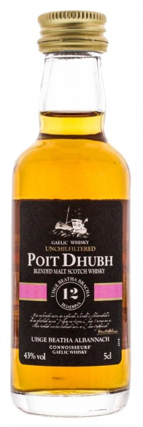 Poit Dhubh Malt Whisky 12 Years Old Miniature