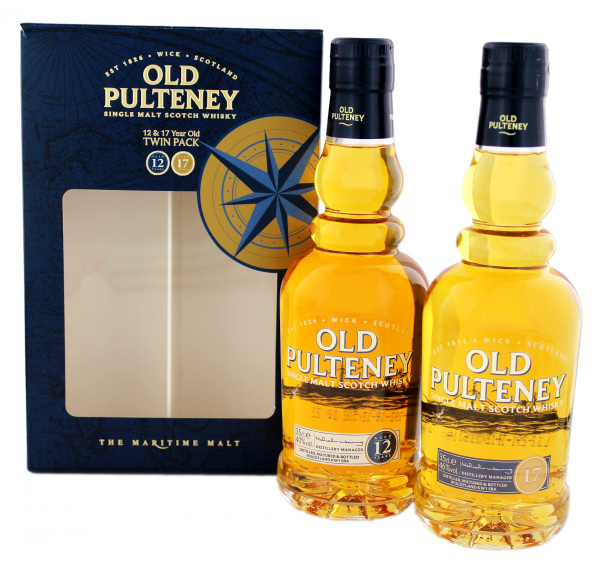 Old Pulteney Twinpack 12 & 17 Jahre 2x0,35L 43%