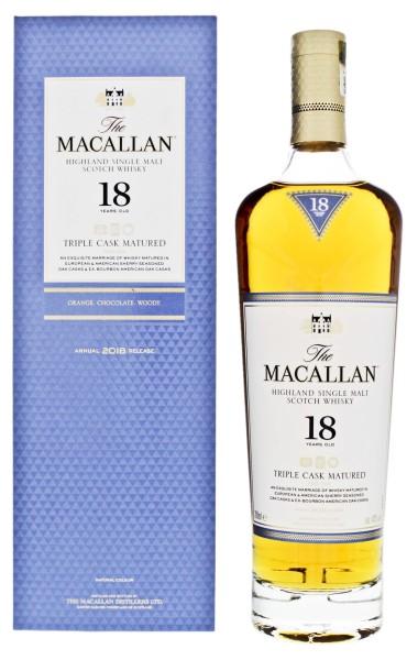Macallan Single Malt Whisky Triple Cask 18 Jahre 0,7L 43%