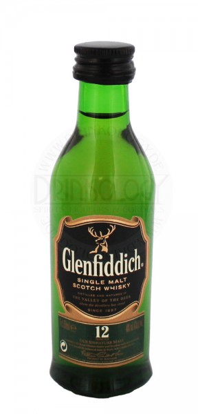 Glenfiddich Single Malt Whisky 12 Jahre Miniatur