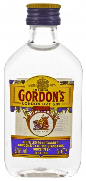 Gordon's Dry Gin Miniatur 0,05L 37,5%