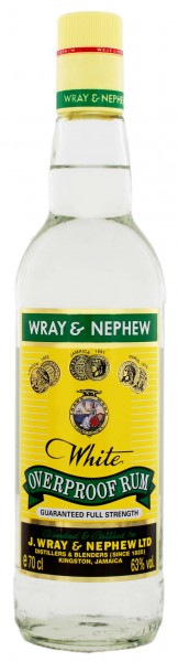 Wray and Nephew White Overproof Rum, 0,7 L, 63%