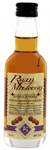 Malecon Rum Reserva Superior 15 Years Old Miniatur