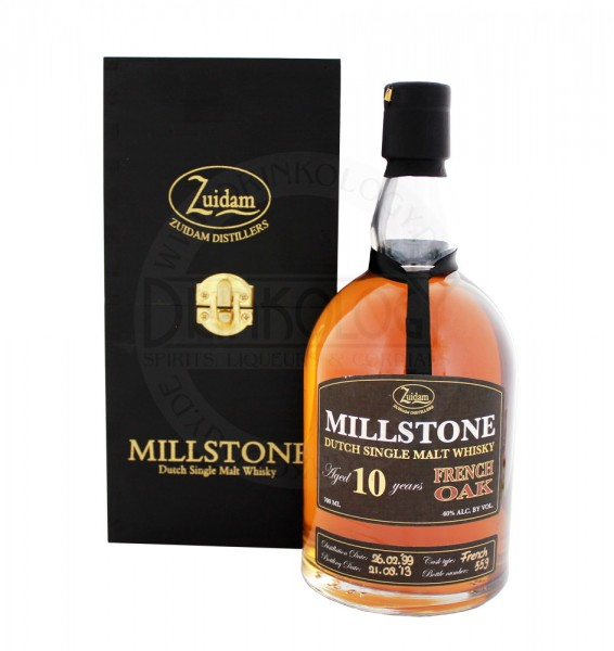 Zuidam Millstone Malt Whisky 10 Jahre French Oak 0,7L 40%