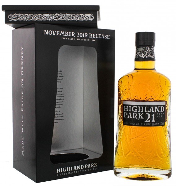 Highland Park Single Malt Whisky 21 Jahre November 2019 Release 0,7L 46%