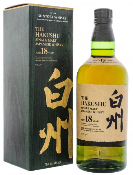 Hakushu Japanese Single Malt Whiskey 18 Jahre 0,7L 43%