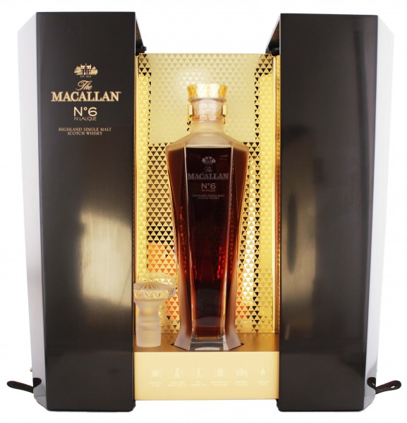 Macallan Single Malt Whisky No. 6 in Lalique Decanter 0,7L 43%
