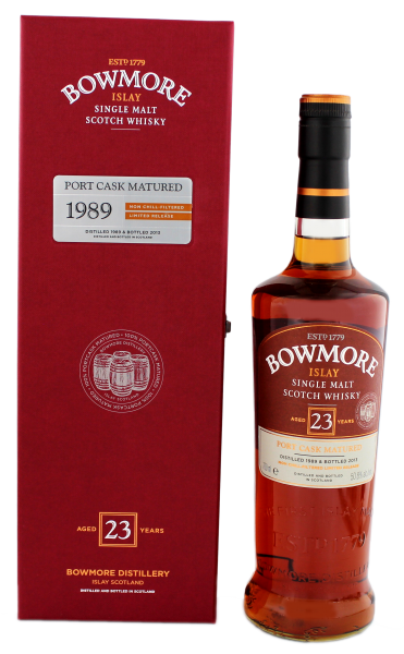 Bowmore 23YO Single Malt Whisky 1989 Port Cask Matured 0,7 L 50,8%