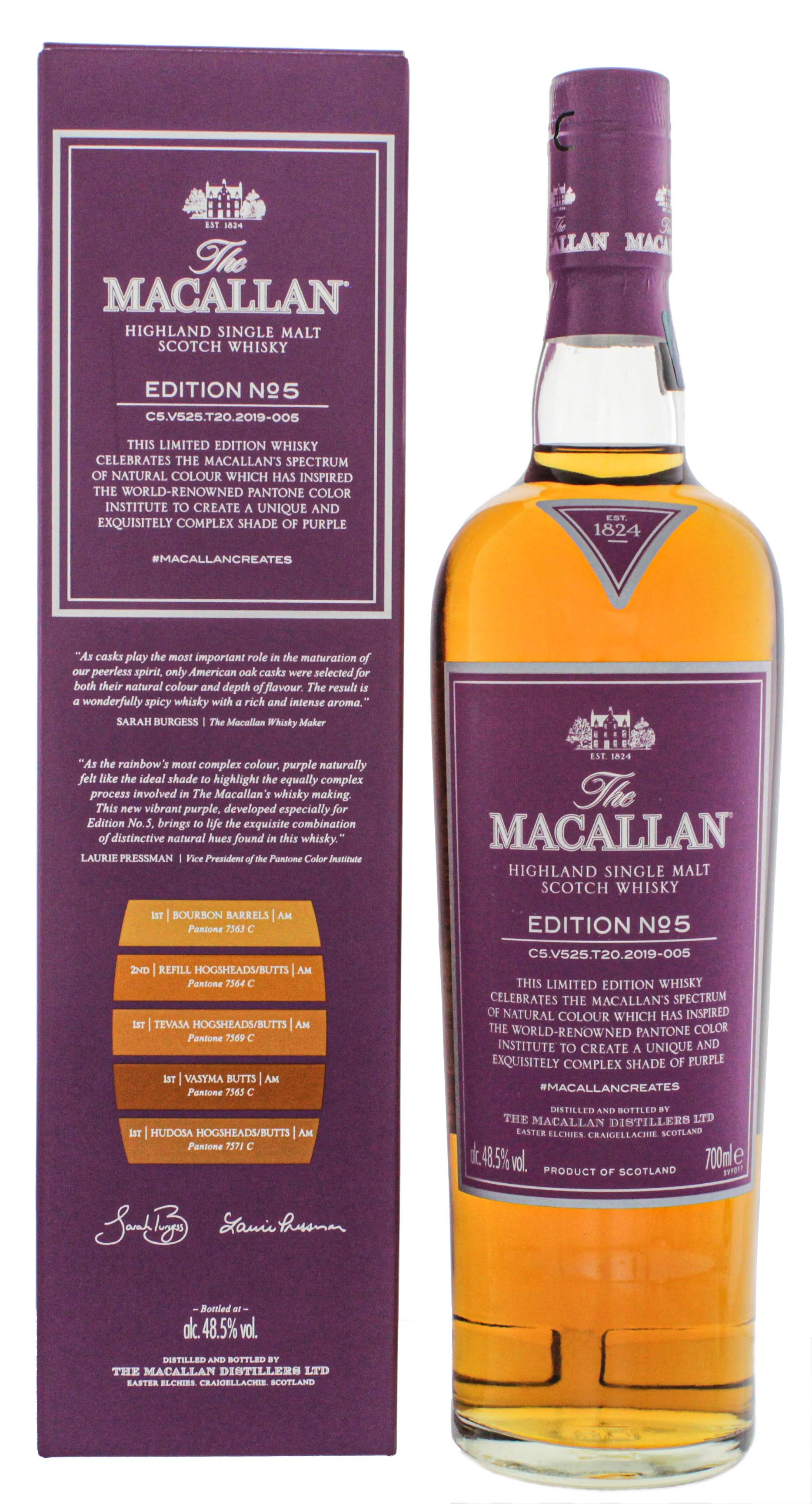 Macallan Single Malt Whisky Edition No. 5 Single Malt Whisky 0,7L 48,5%