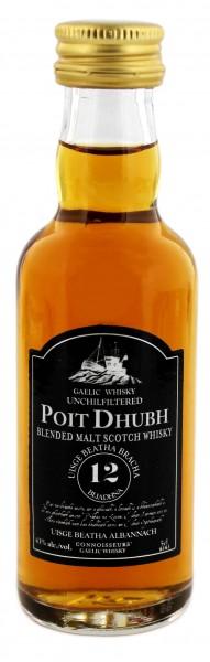 Poit Dhubh Malt Whisky 12 Years Old Miniature
