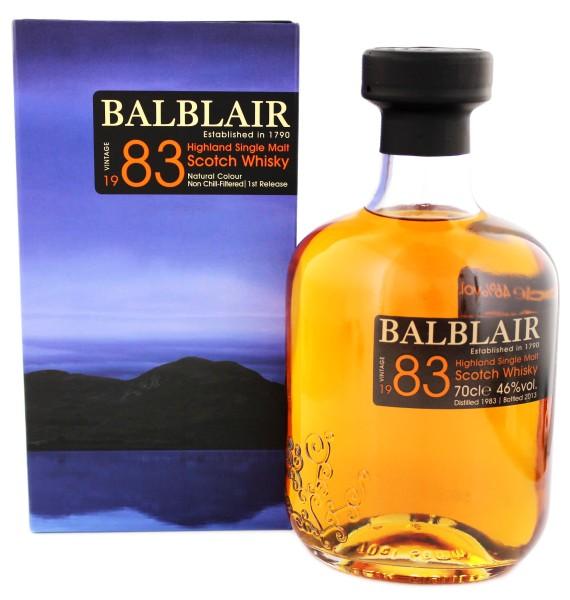 Balblair Single Malt Whisky Vintage 1983