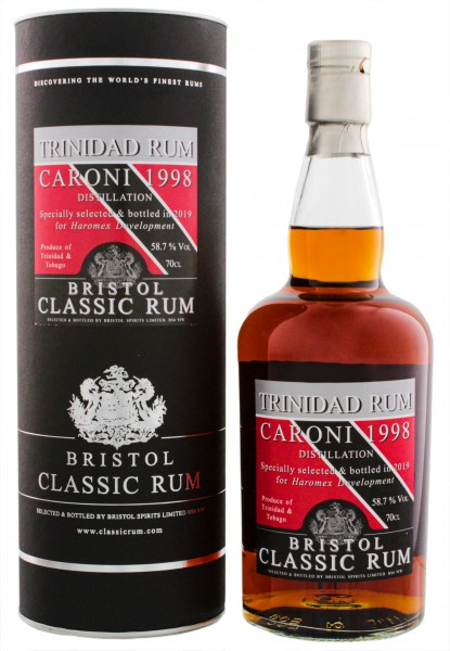 Bristol Caroni Trinidad 1998/2019 Single Cask No. 2186 Ltd. Edt. 0,7L 58,7%-