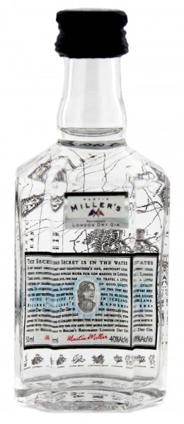 Martin Millers Dry Gin Miniature, 0,05 L, 40%