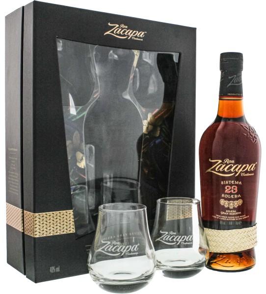 Zacapa Centenario Rum Solera Gran Reserva set inkl. 2 Gläser 0,7L 40%