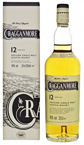 Cragganmore Single Malt Whisky 12 Years Old 0,2L 40%