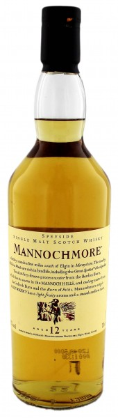 Mannochmore Single Malt Whisky 12 Years Old, 0,7 L, 43%