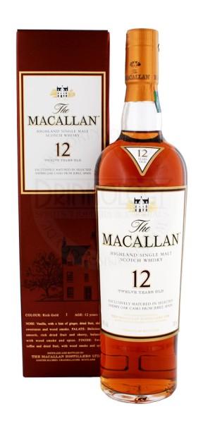 Macallan Single Malt Whisky Sherry Wood 12 Jahre, 0,7 L, 40%