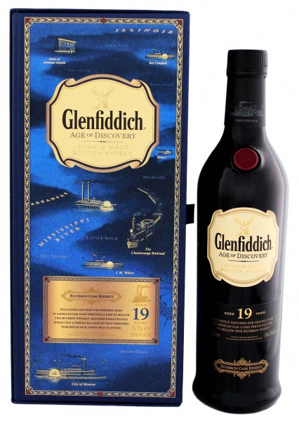 Glenfiddich Age of Discovery Malt Whisky 19 Jahre Mississippi, 0,7L 40%