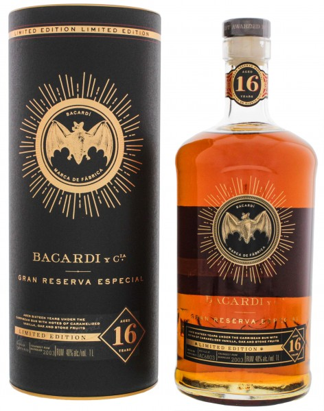 Bacardi Gran Reserva Especial 16 Jahre Limited Edition Rum 1,0L 40%