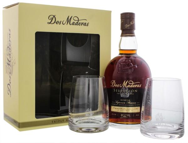 Dos Maderas Seleccion Rum Set mit 2 Gläser 0,7L 42%