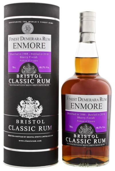Bristol Rum Enmore Guyana 30 Jahre 1988/2018 Sherry Cask Finish 0,7L 46,5%