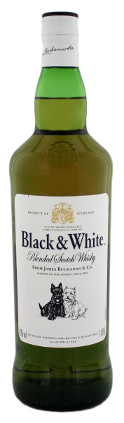 Black & White Blended Scotch Whisky 1,0L 40%