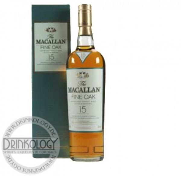 Macallan Single Malt Whisky Fine Oak 15 Jahre, 0,7 L, 43%
