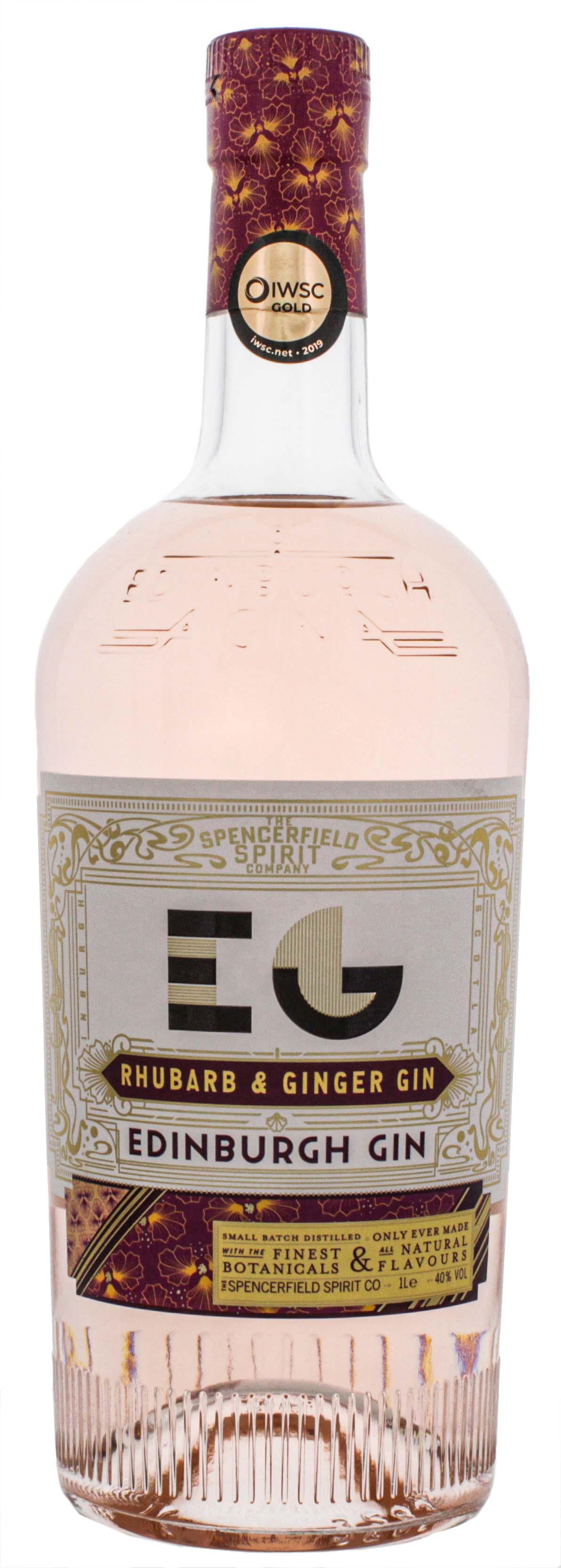 Edinburgh Rhubarb and Ginger Gin 1,0L 40%